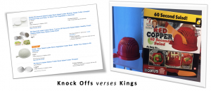 Knock Offs verses Kings by Carrie Jeske Reveiw.