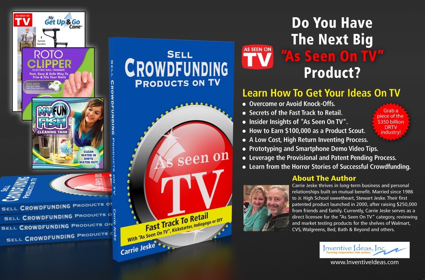 Sell crowdfunding products on tv.